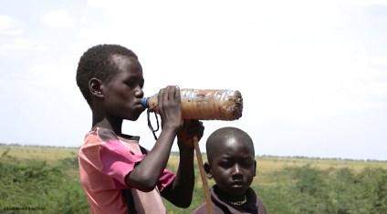 En partageant les points d'eau avec les animaux, les enfants contractent des maladies.