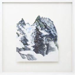 Petit landscape 2., acrylique sur papier, découpé, 50 X 50 cm, © Jihee Han.