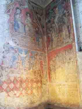 Peintures murales de l'Église primitive exécutées en 1327