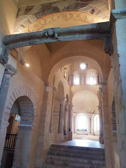 La nef qui était entièrement peinte