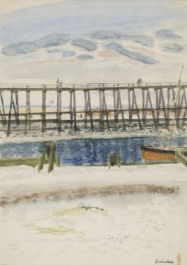 L'estacade, circa 1957 – gouache – 53x37,5 cm
