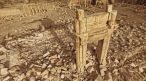 Temple de Bàl apräs destruction par Daech, Palmyre, Syrie