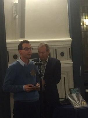 Guillaume Grandgeorge lauréat et André Balbo cofondateur du prix