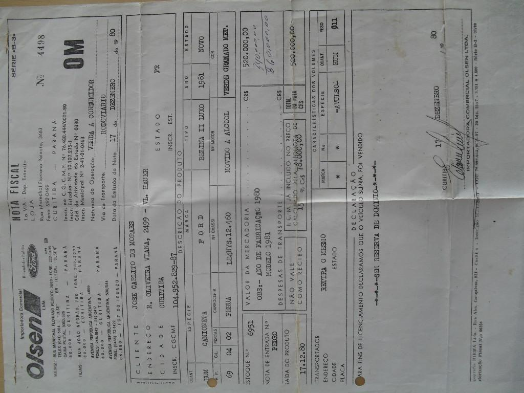 Ford Belina 1.6 1980/1981 Ref.:3169