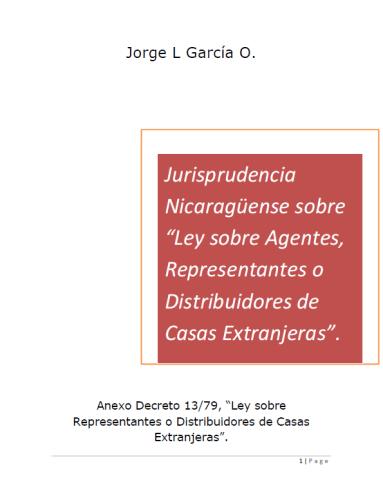 Jurisprudencia sobre casas extranjeras Nicaragua