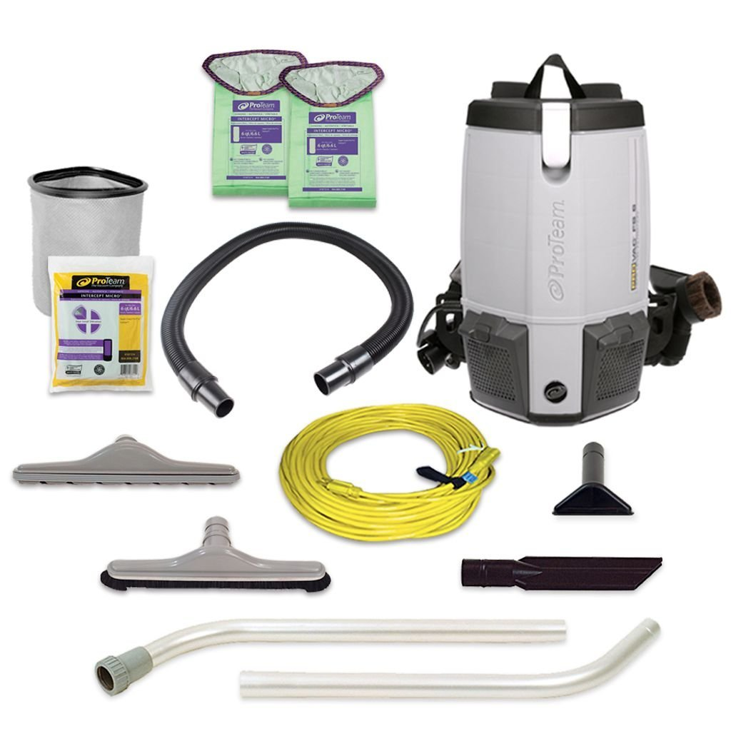 ProTeam Commercial Backpack Vacuum Cleaner ProVac FS 6