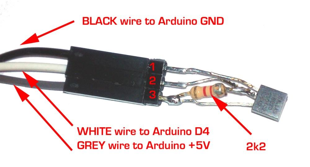 medium resolution of wiring dallas maxim 1wire 18b20 18s20 1wire temperature sensor with arduino