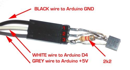 small resolution of wiring dallas maxim 1wire 18b20 18s20 1wire temperature sensor with arduino