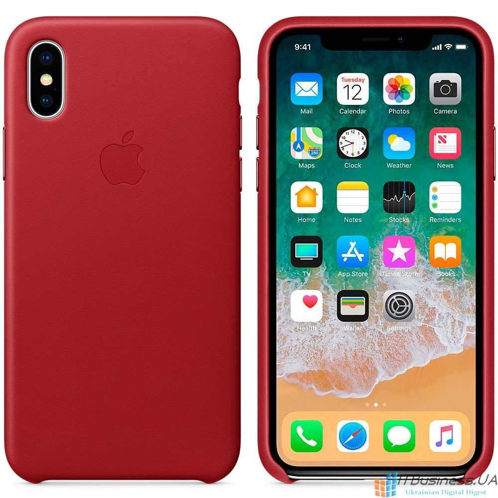 Apple Leather Case iPhone X