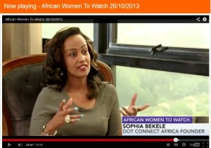 Sophia Bekele- Bloomberg TV African Women to Watch (2)