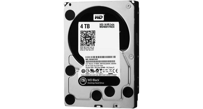 Western Digital анонсировала жесткий диск WD Black емкостью 4 ТБ