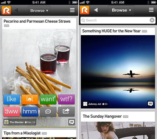 Социальный браузер Rockmelt добрался до iPhone