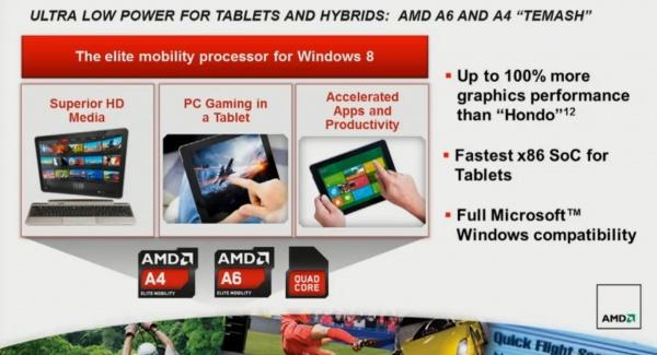 AMD Kabini и Temash: 28-нанометровые APU для ультрапортативных систем и планшетов