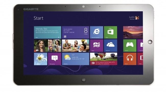 Gigabyte представила пару планшетов на Windows 8