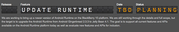 В ОС BlackBerry 10 можно будет запускать приложения для Android 4.1