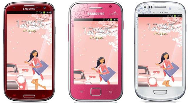 С  перламутровыми пуговицами. Samsung представила в Украине серию женских смартфонов La Fleur 2013 года