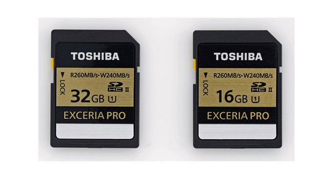Toshiba анонсировала высокоскоростные карты памяти SDHC серии Exceria
