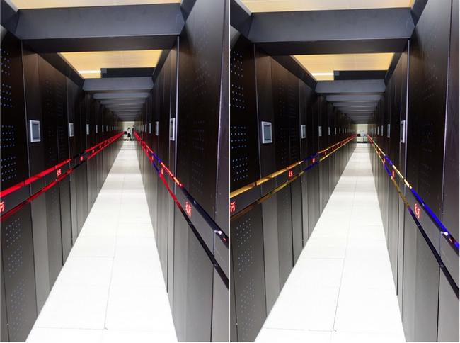 Многочисленные монтажные шкафы суперкомпьютера Tianhe-2
