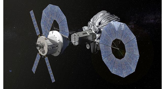 NASA показала планируемый запуск космического корабля к астероиду, размещенному на орбите Луны