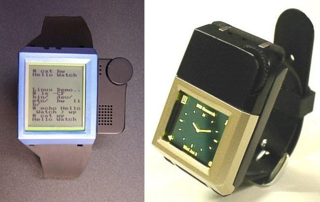 Первый и второй прототип умных часов IBM Linux Watch (2000 год)