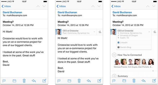 LinkedIn Intro позволяет просматривать профили LinkedIn в почтовом приложении Apple Mail