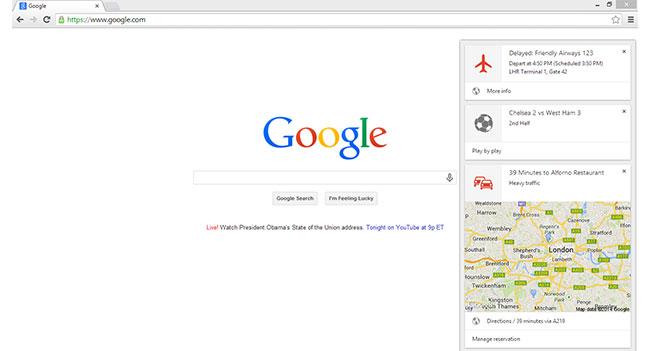 Уведомления Google Now стали доступны в настольной бета-версии браузера Chrome