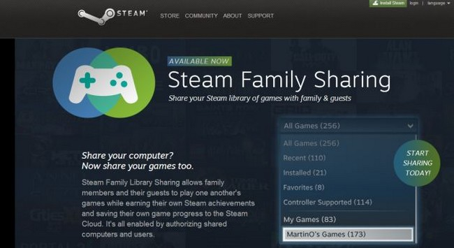 Steam Family Sharing