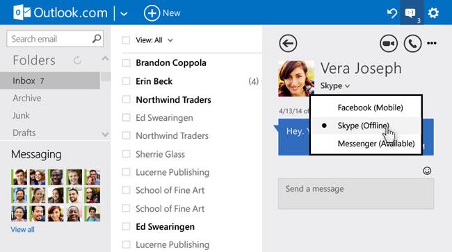 Microsoft внесла ряд улучшений в Outlook.com