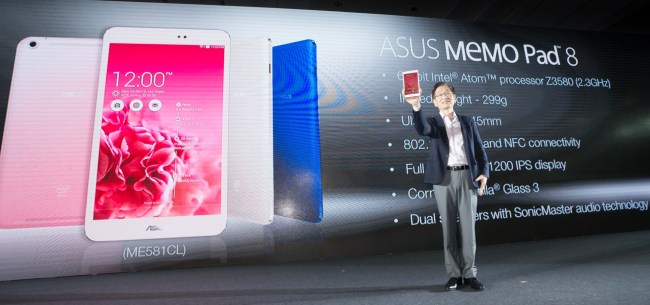 ASUS unveiled MeMO Pad 8, the world's lightest 8-inch LTE tablet