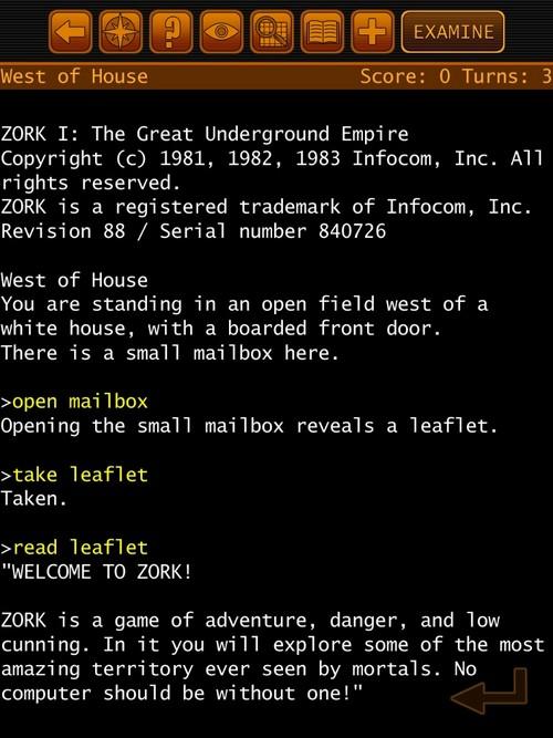 Игровой процесс в жанре текстовых адвентюр с годами не меняется
