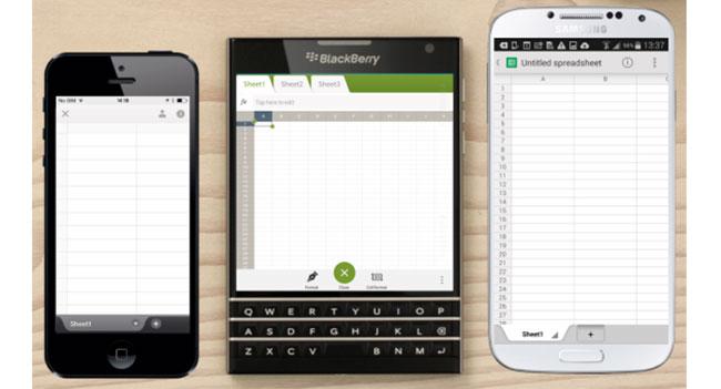 BlackBerry: квадратные дисплеи смартфонов удобны для работы с документами