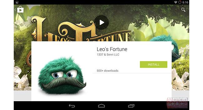 Google обновит дизайн магазина Play Store