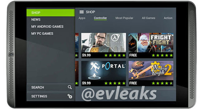 Появилось изображение планшета NVIDIA Shield