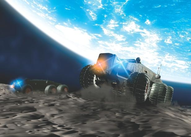 Moon exploration, artwork