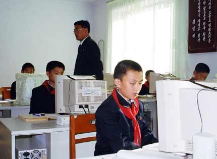 Пионеры за компьютерами