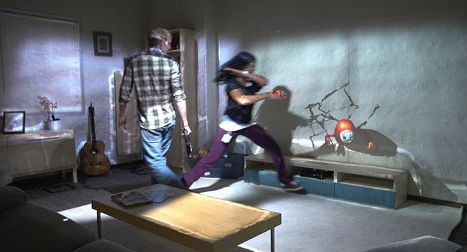 Проект Microsoft RoomAlive позволяет расширить игровой процесс на всю комнату