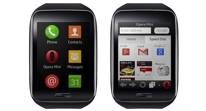 Для умных часов Samsung Gear S стал доступен браузер Opera Mini
