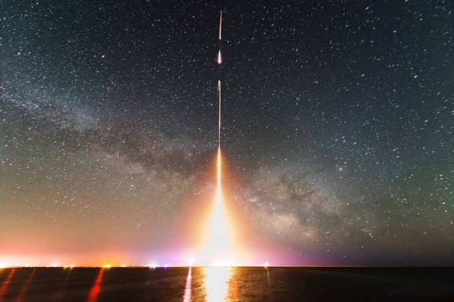 A-time-lapse-photograph-of-the-last-CIBER-rocket-launch-from-NASAs-Wallops-Flight-Facility-in-2013.-Photo-Credit-T.-AraiUniversity-of-Tokyo-NASA-photo-posted-on-SpaceFlight-Insider-647x431