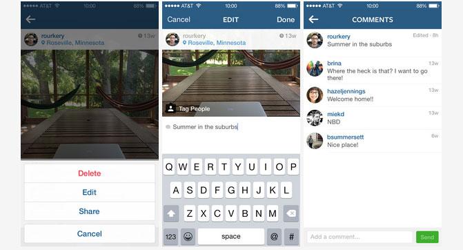 В Instagram теперь можно редактировать описания уже опубликованных фотографий
