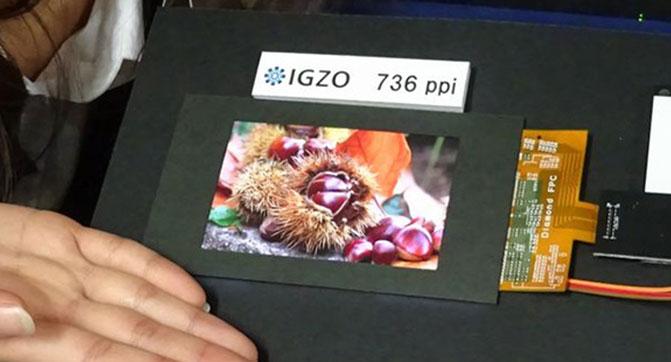 Sharp создала IGZO дисплей с плотностью размещения пикселей 736 PPI