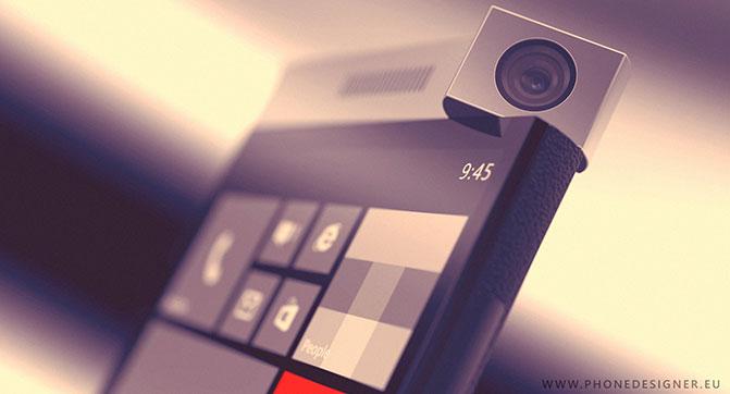 Spinner - концепт смартфона с вращающейся камерой на базе Windows Phone