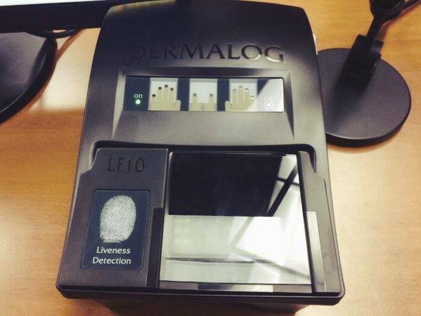 Аппарат для снятия отпечатков пальцев