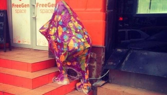 Интерактивная скульптура «Гик» в Киеве раздает бесплатный Wi-Fi