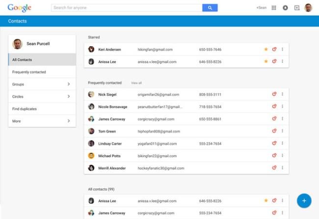 Google подготовила обновление компонента «Контакты»