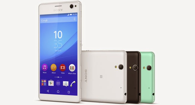 Sony анонсировала смартфон Xperia C4 для любителей автопортретов