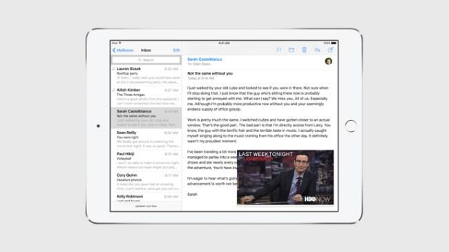 Apple добавила многозадачность в iOS 9