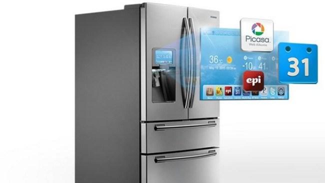 Samsung-kjøleskap med Interne