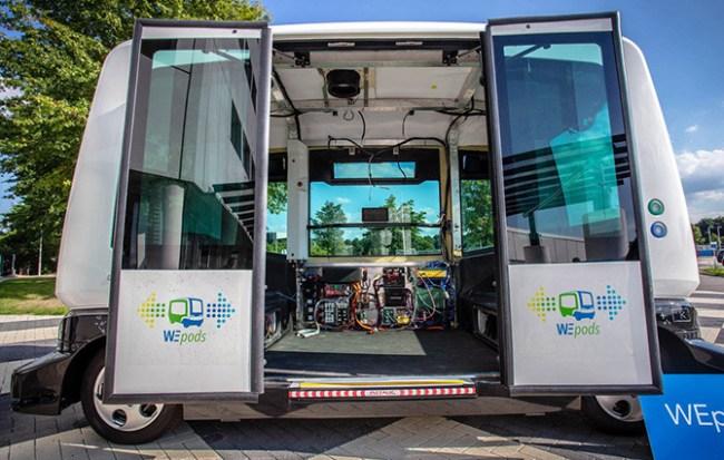 В Голландии скоро будут запущены самоуправляемые автобусы WEpods