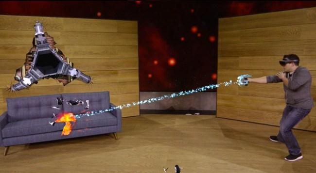 Microsoft продемонстрировала игру Project XRay для очков дополненной реальности HoloLens