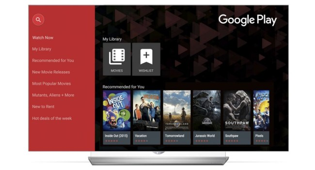 LG Smart Google Play Movies & TV